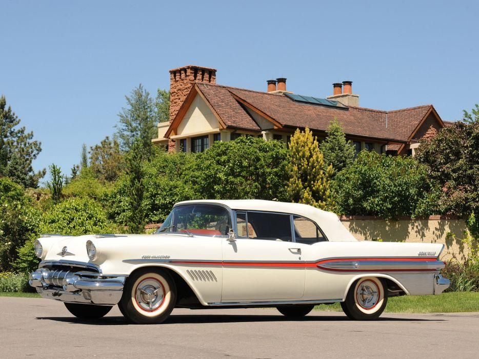 1957 Pontiac Bonneville Convertible retro d wallpaper