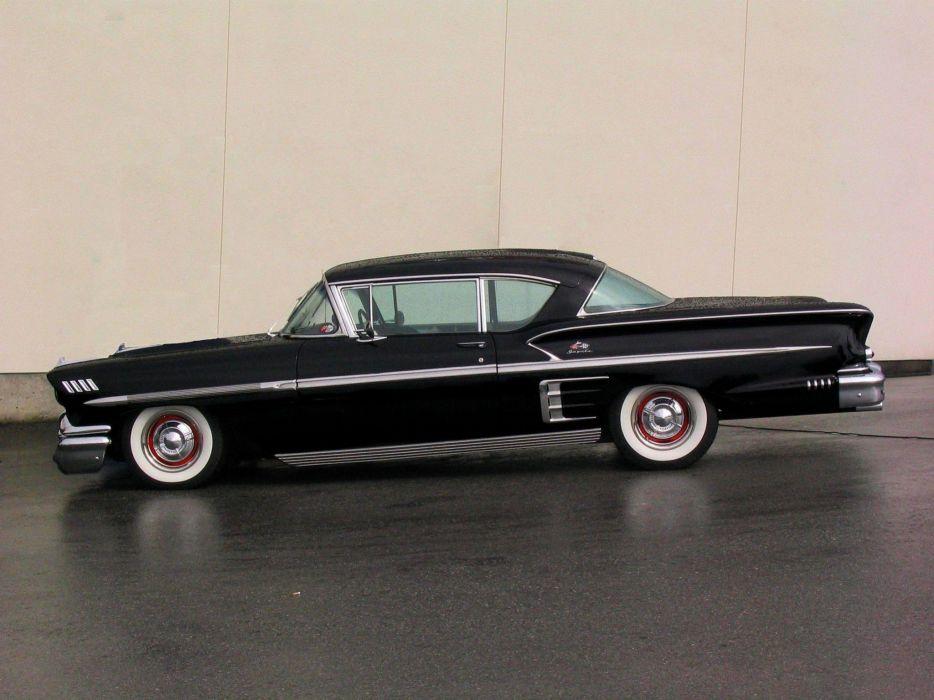1958 Chevrolet Bel Air Impala muscle retro d wallpaper