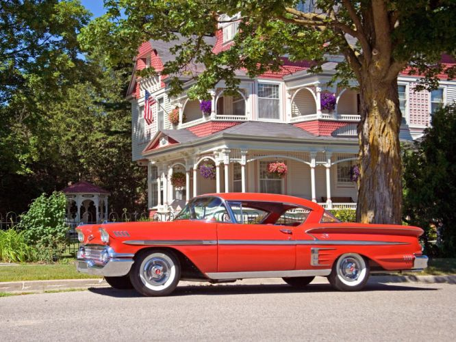 1958 Chevrolet Bel Air Impala muscle retro wallpaper