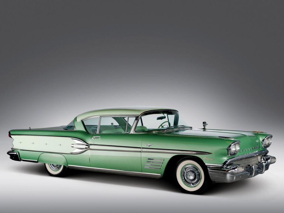 1958 Pontiac Bonneville Custom Sport Coupe retro   ds wallpaper