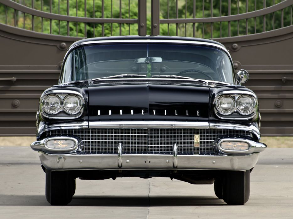 1958 Pontiac Bonneville Custom Sport Coupe retro  f wallpaper
