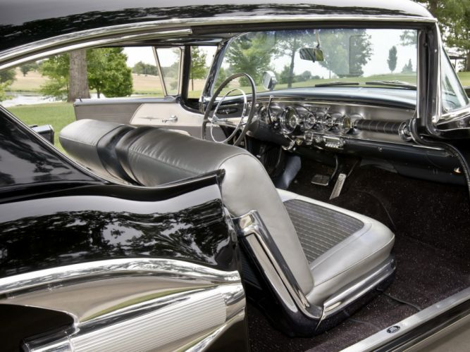 1958 Pontiac Bonneville Custom Sport Coupe retro interior w wallpaper