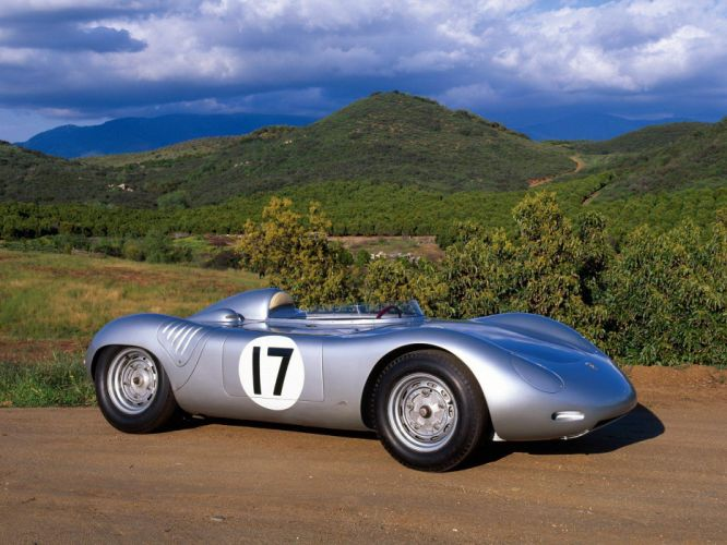1958 Porsche 718 RSK retro race racing f wallpaper