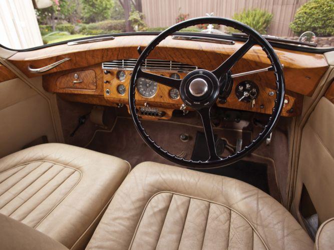 1958 Rolls Royce Silver Wraith Hooper Limousine retro luxury interior wallpaper
