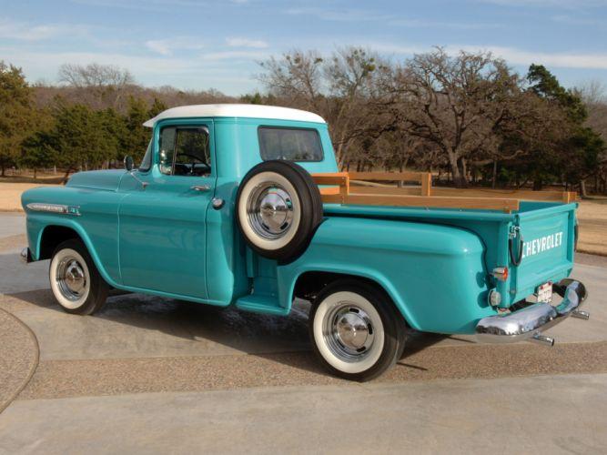 1959 Chevrolet Apache 3100 Pickup truck retro f wallpaper