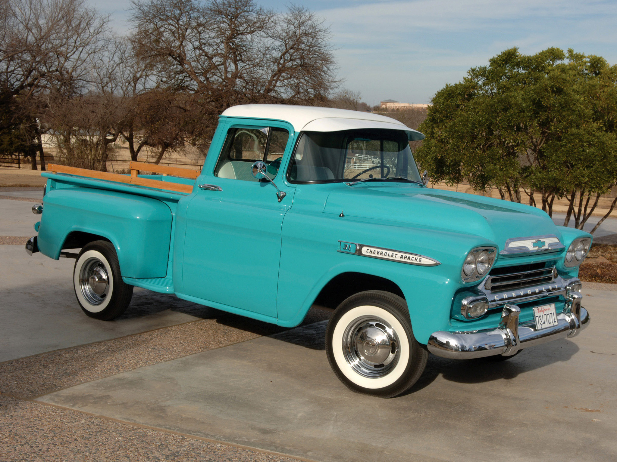 1959 Chevrolet Apache 3100 Pickup truck retro wallpaper ...