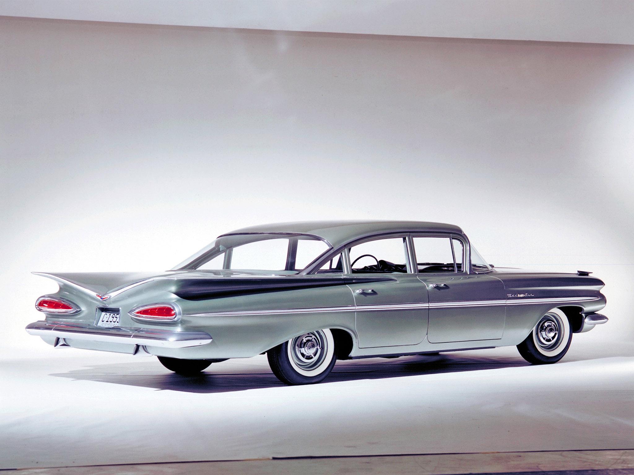 1959 chevrolet bel air 4 door sedan retro gf wallpaper. Black Bedroom Furniture Sets. Home Design Ideas