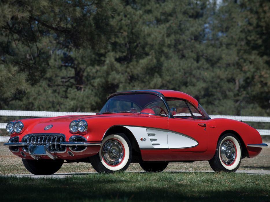 1959 Chevrolet Corvette C1 c-1 retro muscle supercar supercars wallpaper