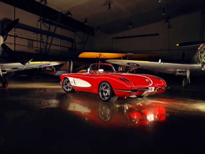 1959 Chevrolet Corvette C1 Pogea c-1 retro muscle supercar supercar custom hot rod rods f wallpaper