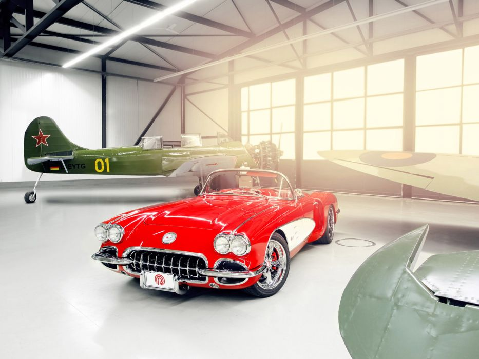 1959 Chevrolet Corvette C1 Pogea c-1 retro muscle supercar supercar custom hot rod rods     f wallpaper