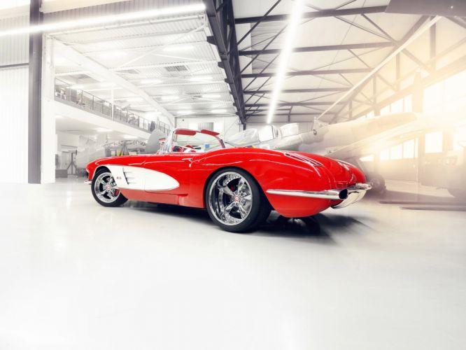 1959 Chevrolet Corvette C1 Pogea c-1 retro muscle supercar supercar custom hot rod rods wheel wheels f wallpaper