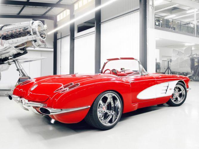 1959 Chevrolet Corvette C1 Pogea c-1 retro muscle supercar supercar custom hot rod rods wheel wheels wallpaper