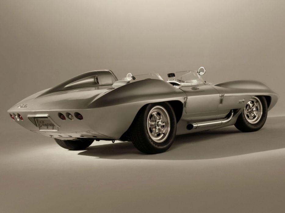 1959 Chevrolet Corvette Stingray Racer Concept retro muscle supercar supercars race racing    g wallpaper