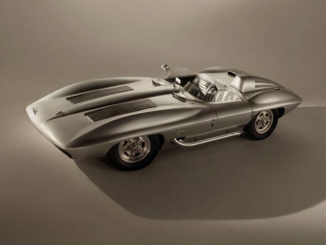 1959 Chevrolet Corvette Stingray Racer Concept retro muscle supercar supercars race racing v wallpaper