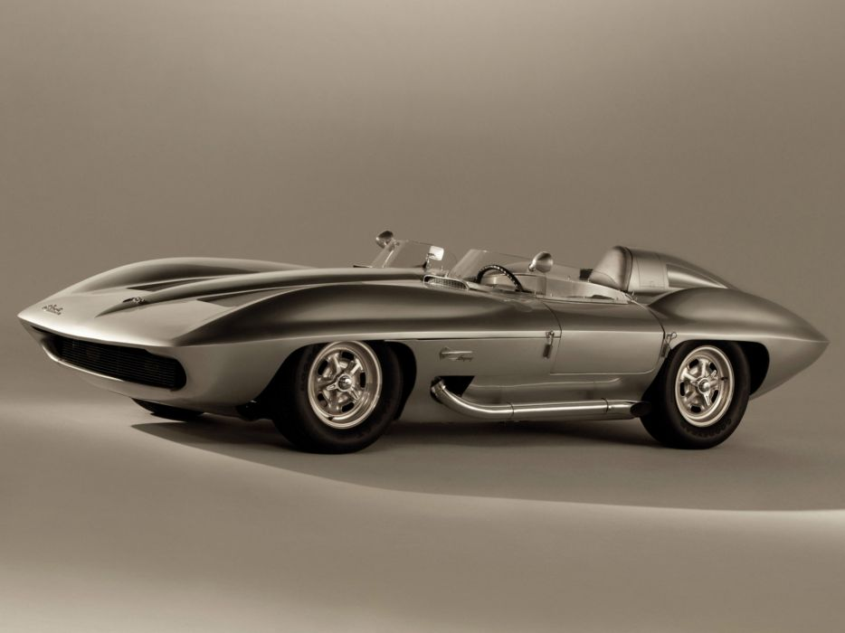 1959 Chevrolet Corvette Stingray Racer Concept retro muscle supercar supercars race racing  c wallpaper