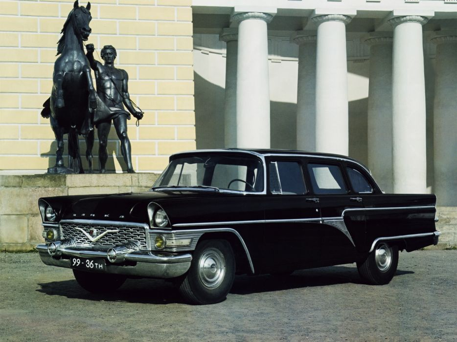 1959 GAZ 13 Csajka retro luxury wallpaper