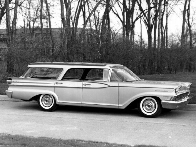 1959 Mercury Commuter Country Cruiser station wagon retro wallpaper