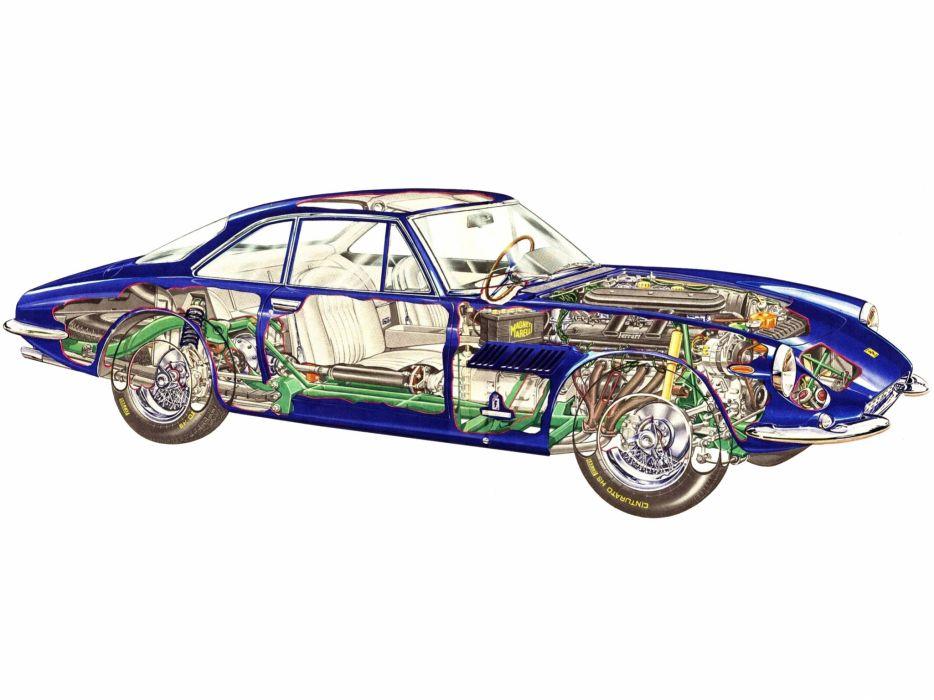 1964 Ferrari 500 Superfast classic supercar supercars interior engine engines wallpaper