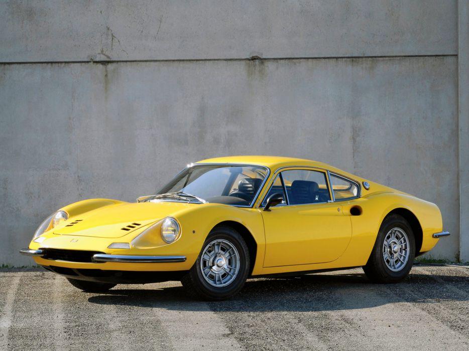 1968 Ferrari Dino 206 GT classic g-t supercar supercars wallpaper