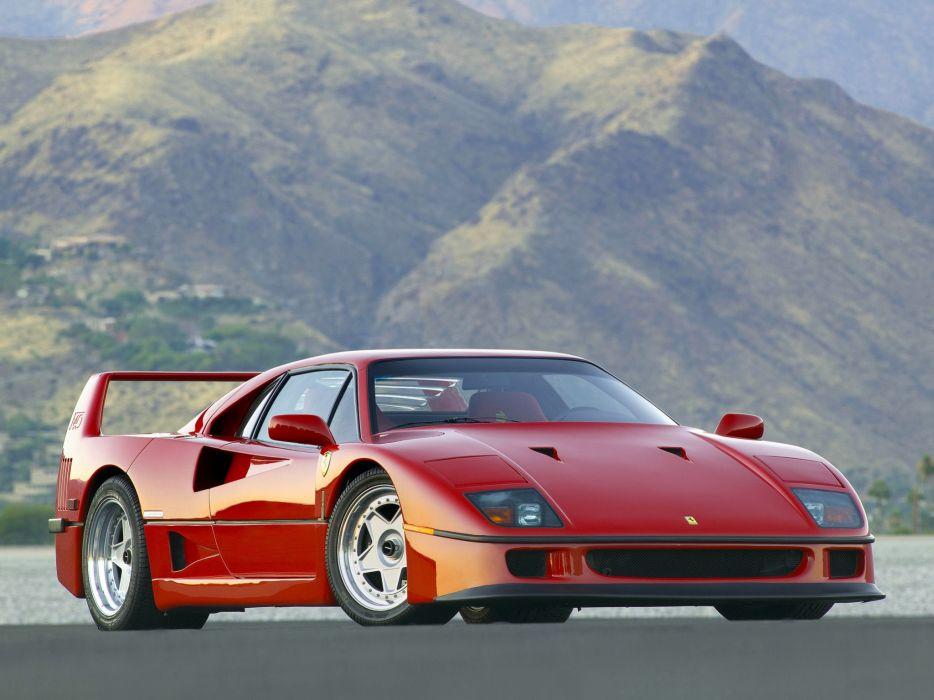 1987 Ferrari F40 classic supercar supercars  d wallpaper