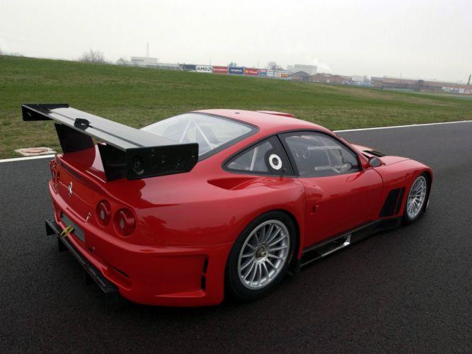 2004 Ferrari 575 GTC race racing supercar supercars f wallpaper