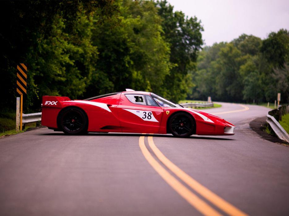 2008 Ferrari FXX Evolution supercar supercars race racing  g wallpaper