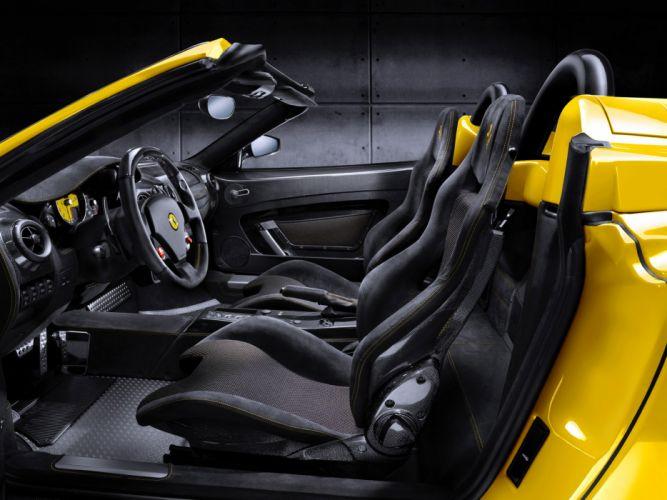 2009 Ferrari Scuderia Spider 16M supercar supercars interior wallpaper