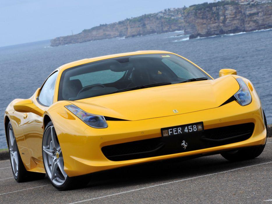 2010 Ferrari 458 Italia supercar supercars      d wallpaper