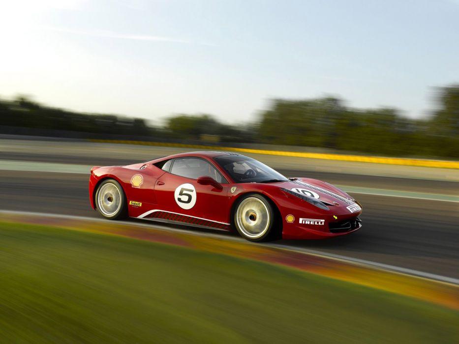 2010 Ferrari 458 Italia Challenge race racing supercar supercars wallpaper