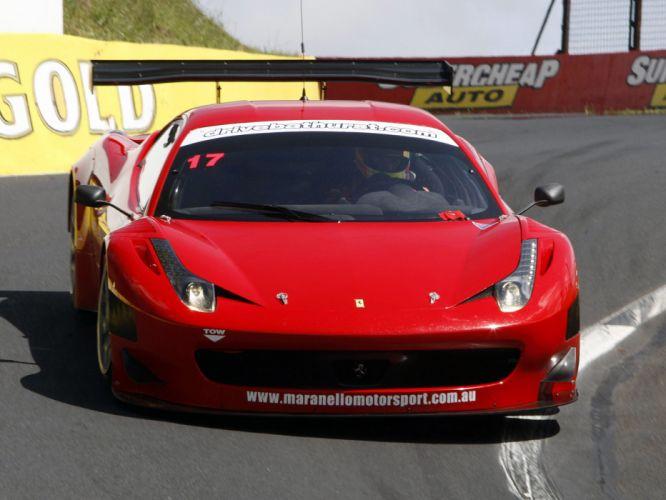 2011 Ferrari 458 Italia GT3 supercar supercars race racing wallpaper