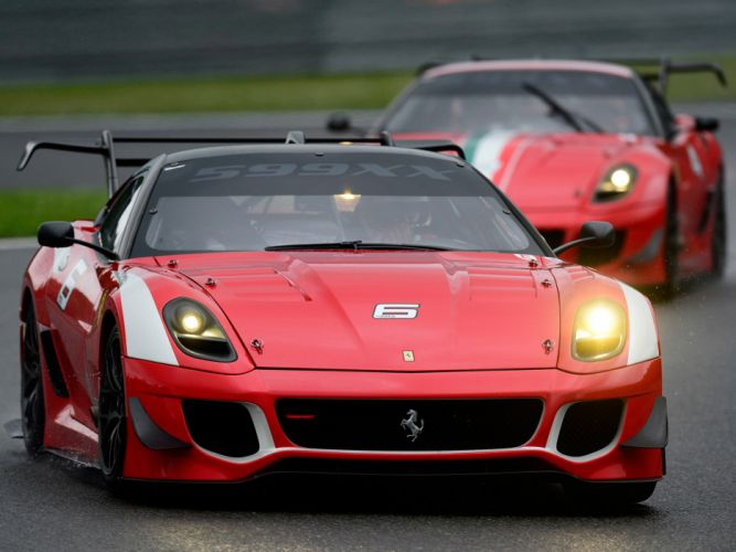 2012 Ferrari 599XX Evoluzione supercar supercars race racing dc wallpaper