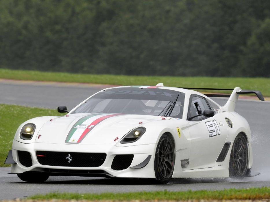 2012 Ferrari 599XX Evoluzione supercar supercars race racing  f wallpaper