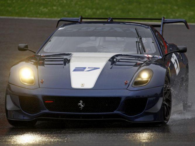 2012 Ferrari 599XX Evoluzione supercar supercars race racing drops wallpaper