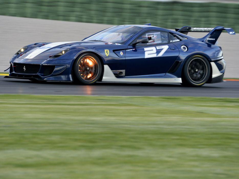 2012 Ferrari 599XX Evoluzione supercar supercars race racing fire   d wallpaper