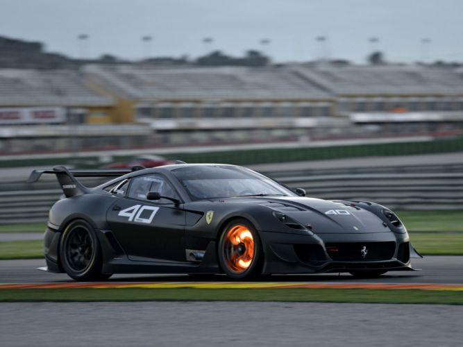2012 Ferrari 599XX Evoluzione supercar supercars race racing fire wallpaper
