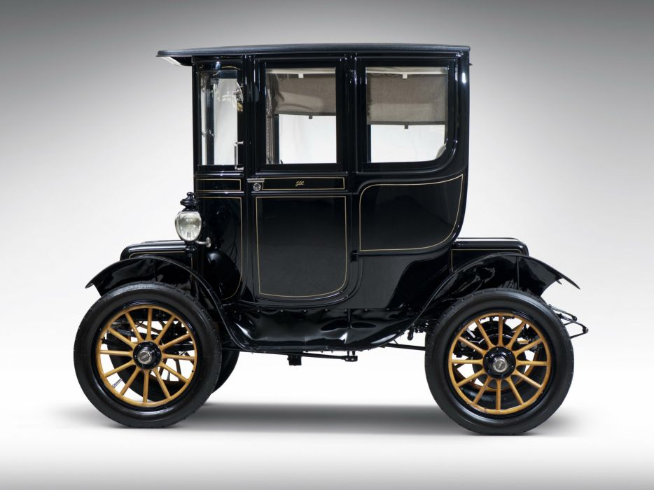 1912 Baker Electric Model-V Special Extension Coupe retro     d wallpaper