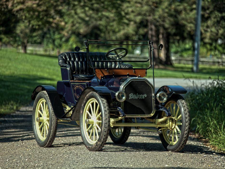 1912 Baker Electric Model-W Runabout retro wallpaper
