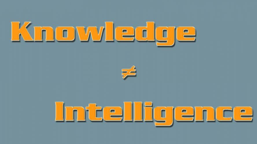 Knowledge & Intelligence wallpaper