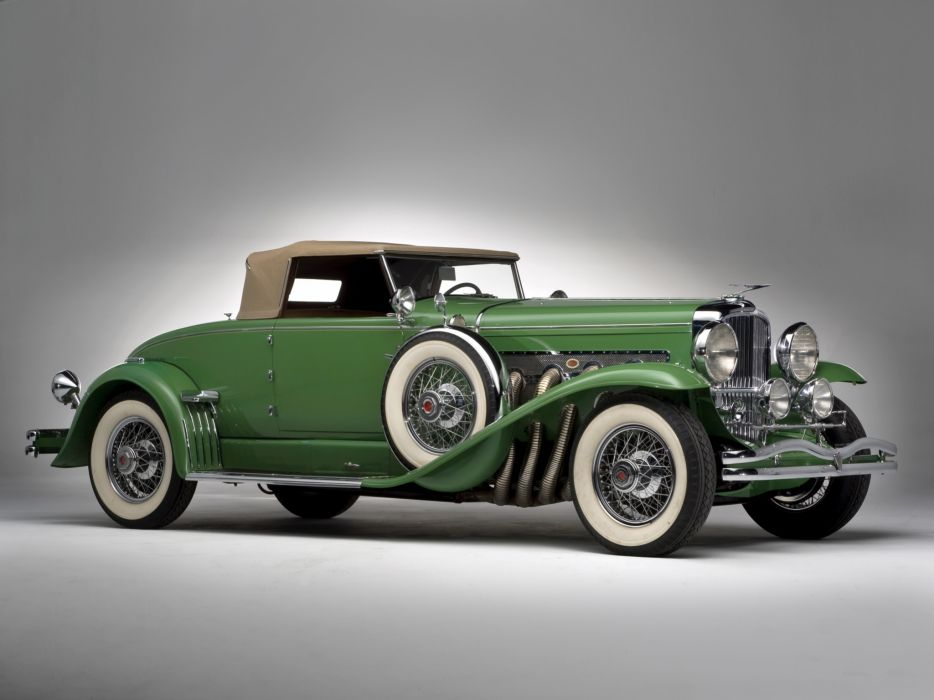 1929 Duesenberg Model- J 142 Convertible Coupe SWB luxury retro wallpaper