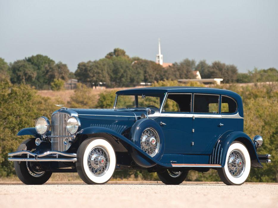 1929 Duesenberg Model- J 187-2209 Clear Vision Sedan SWB luxury retro wallpaper