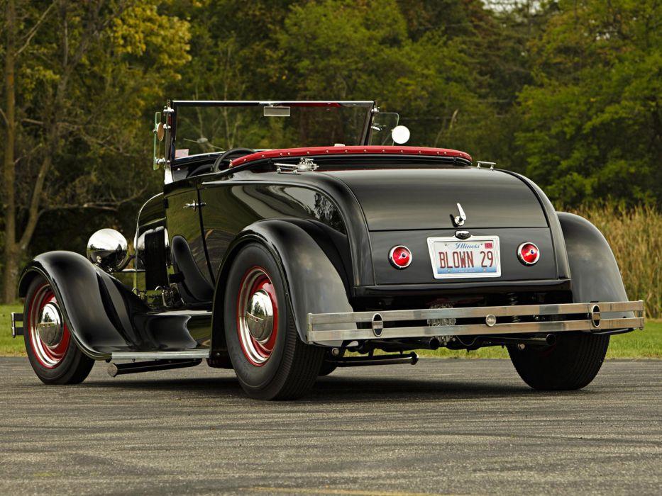 1929 Ford Model-A roadster retro hot rod rods  f wallpaper