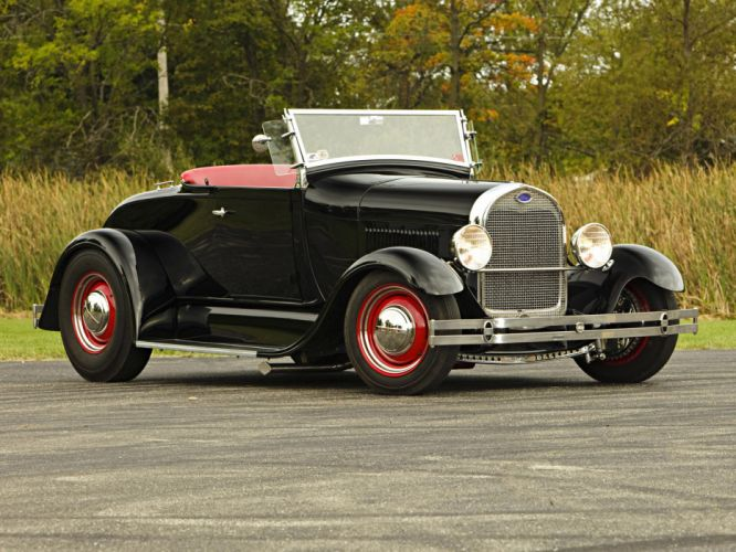 1929 Ford Model-A roadster retro hot rod rods wallpaper
