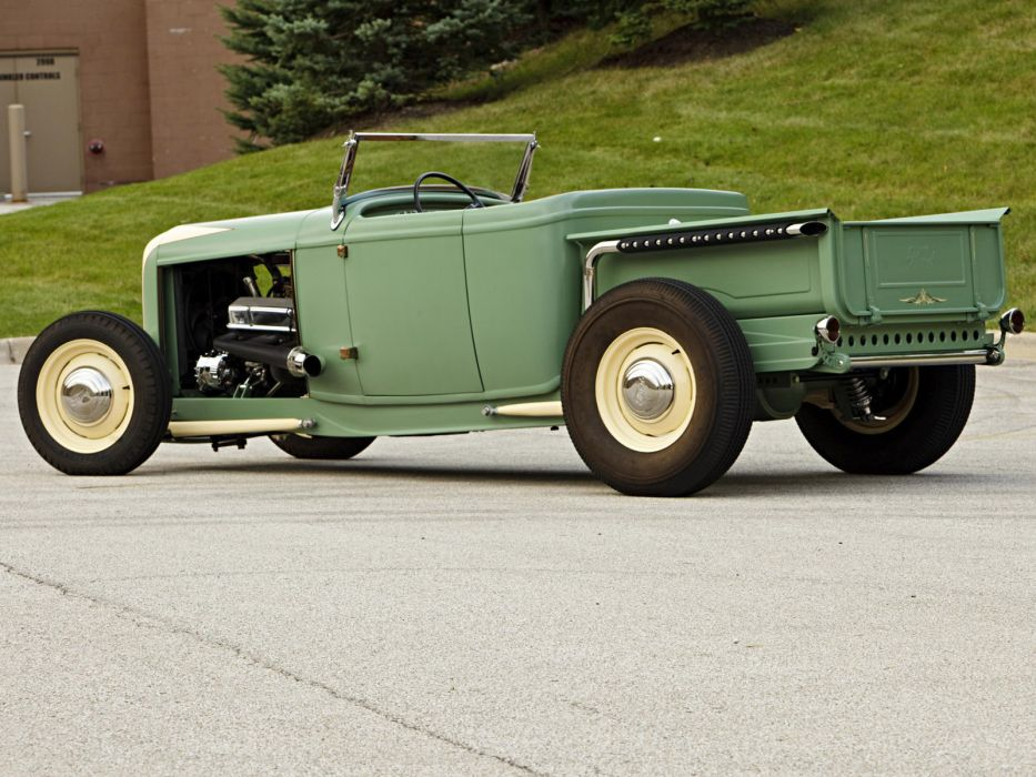 1932 Ford Roadster Pickup truck retro hot rod rods engine engines       h wallpaper