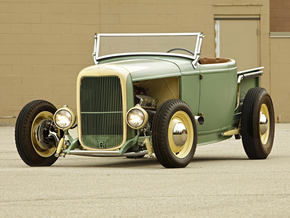 1932 Ford Roadster Pickup truck retro hot rod rods wallpaper