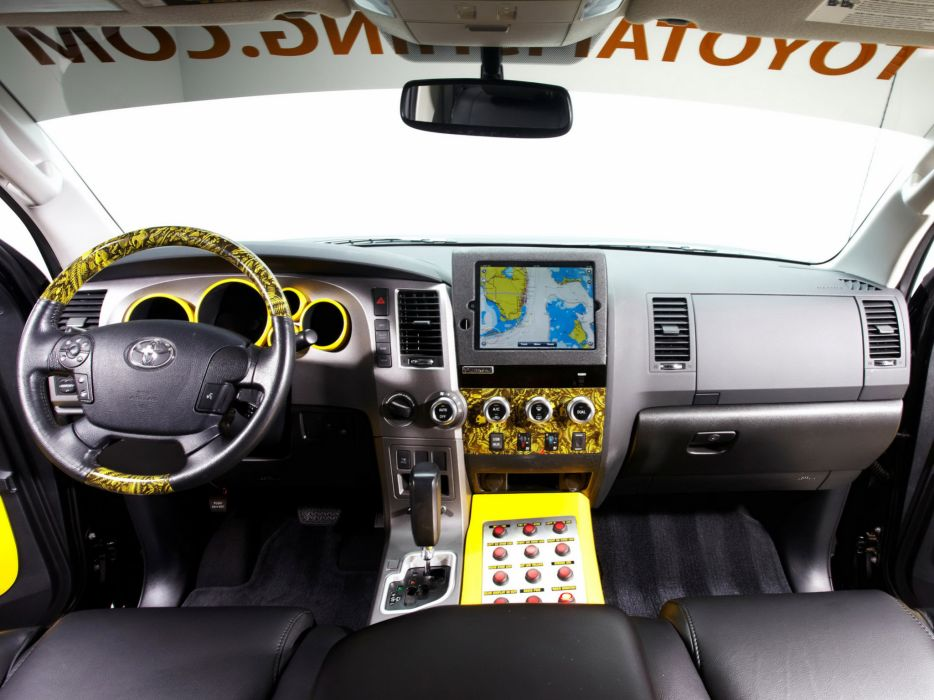 2012 Toyota Tundra Ultimate Fishing truck 4x4 offroad interior wallpaper
