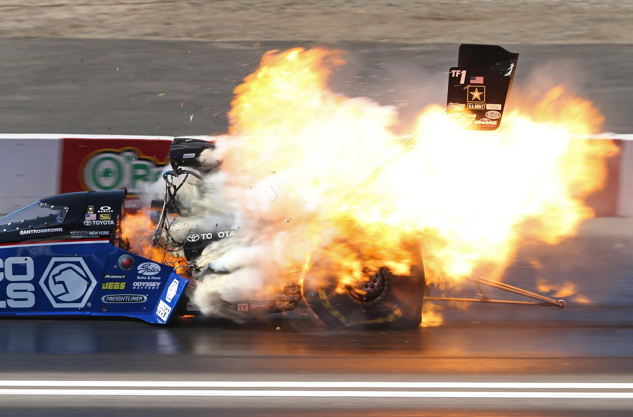 Top fuel drag racing crashes