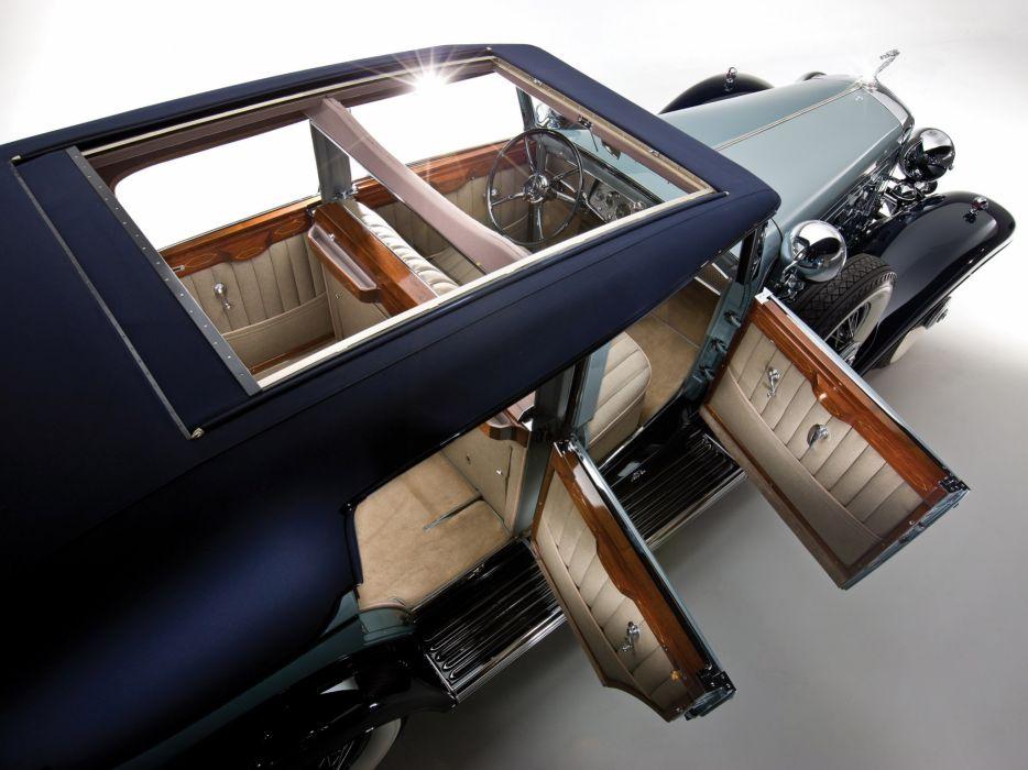 1930 Cadillac Sixteen v16 Convertible Sedan luxury retro interior wallpaper