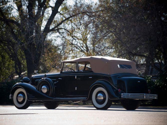 1933 Cadillac V16 Convertible Phaeton Fleetwood luxury retro d wallpaper
