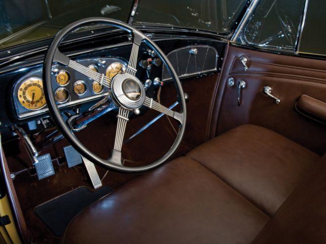 1935 Cadillac V16 452 D Imperial Convertible luxury retro interior wallpaper