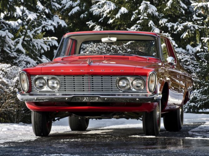 1963 Plymouth Savoy 2-door Sedan classic muscle hot rod rods wallpaper